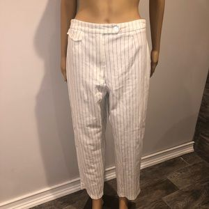 Burberry boat pants white with Blue pinstripes